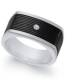 Sutton by Rhona Sutton Men's Two-Tone Cubic Zirconia Ring