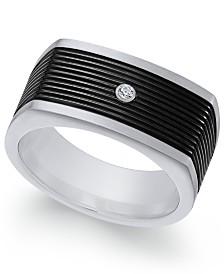 Sutton by Rhona Sutton Men's Two-Tone Cubic Zirconia Ring