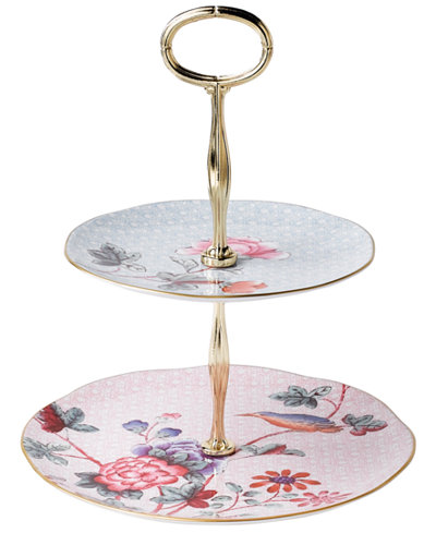 Wedgwood Cuckoo Two Tier Cake Stand