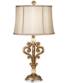 Pacific Coast Traditional Scroll Table Lamp