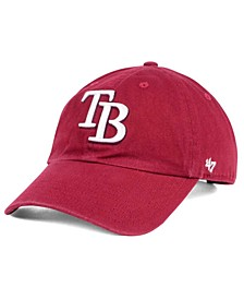 Tampa Bay Rays Cardinal and White CLEAN UP Cap
