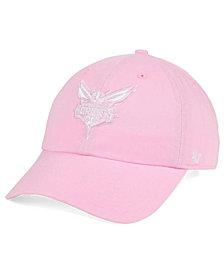 '47 Brand Women's Charlotte Hornets Petal Pink CLEAN UP Cap