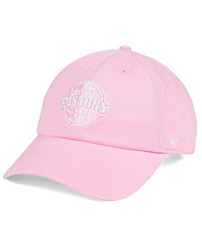 '47 Brand Women's Detroit Pistons Petal Pink CLEAN UP Cap