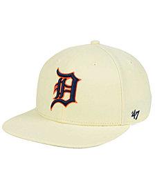 '47 Brand Detroit Tigers Natural No Shot Snapback Cap