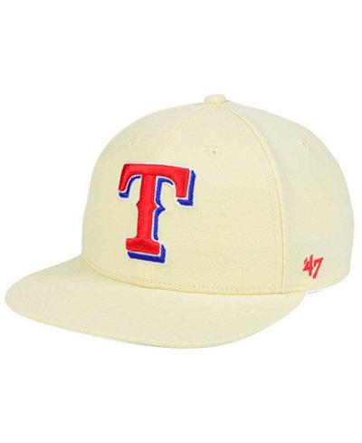 '47 Brand Texas Rangers Natural No Shot Snapback Cap
