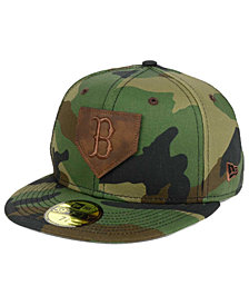 New Era Boston Red Sox The Logo of Leather 59FIFTY Cap