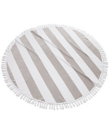 CLOSEOUT! Kassatex Cabana Round Cotton Beach Towel