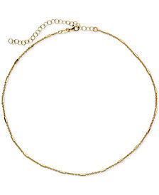 Giani Bernini Polished Bar Chain Choker Necklace in Sterling Silver, Created for Macy's