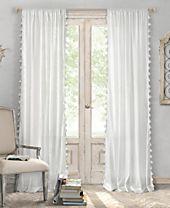 "Elrene Bianca Cotton 52"" x 84"" Window Panel"
