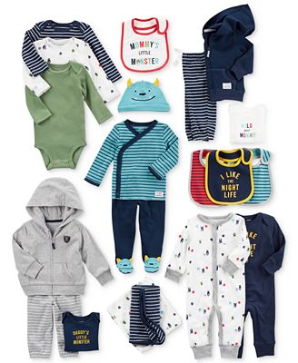 Carter's Teething Bibs, Blankets, Coveralls, Bodysuits & Clothing Sets, Baby Boys