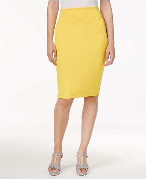 032d4f3962 Thalia Sodi Scuba Pencil Skirt, Created for Macy's & Reviews - Skirts ...