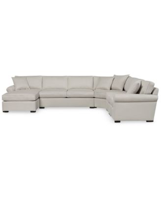 Astra 6-Pc. Fabric Sectional with Chaise, Created for Macy's