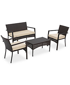 Aldin Outdoor 4-Pc. Chat Set, Quick Ship
