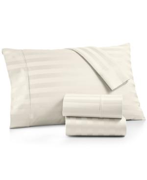 Aq Textiles Bergen Stripe Certified 100 Egyptian Cotton 1000Thread Count 4Pc California King Sheet Set Bedding
