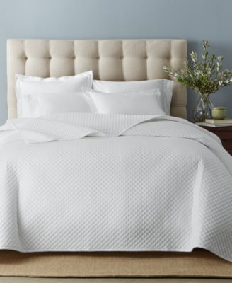 Charter Club Damask Cotton 3 Pc Quilted Coverlet And Sham Collection,  Created For Macyu0027s