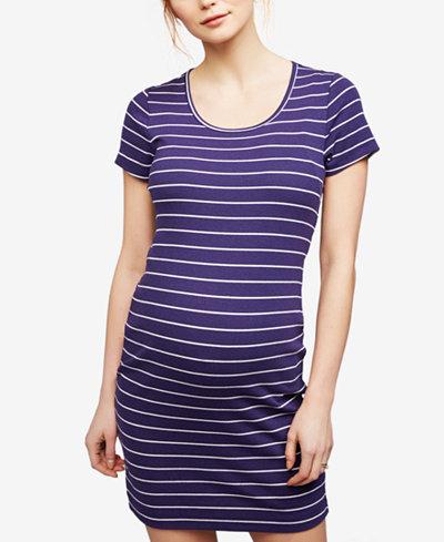 A Pea In The Pod Maternity Striped Sheath Dress