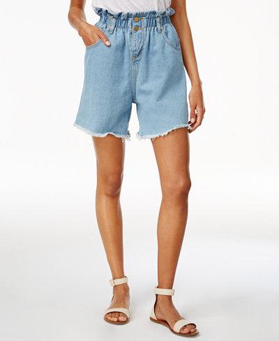 J.O.A. Cotton High-Waist Denim Shorts - Shorts - Women - Macy's