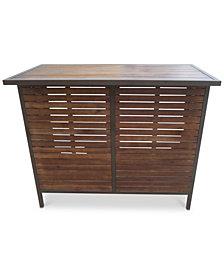 Tennon Acacia Bar Table, Quick Ship