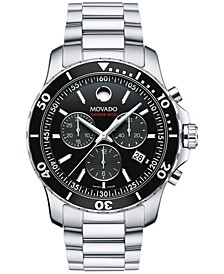 Men's Swiss Chronograph Series 800 Performance Steel Bracelet Watch 42mm 2600142