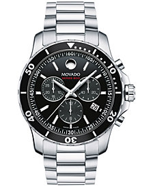Movado Men's Swiss Chronograph Series 800 Performance Steel Bracelet Watch 42mm 2600142