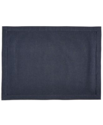 Modern Navy Linen Placemat, Created for Macy's