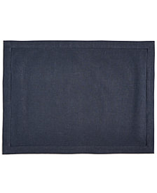 Hotel Collection Modern Navy Linen Placemat, Created for Macy's