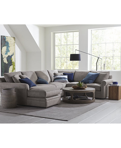 Doss Ii Fabric Sectional Collection Furniture Macy S