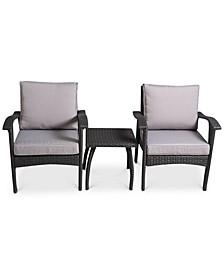 Dyxon 3-Pc. Chairs & Accent Table Set