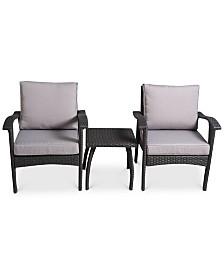 Dyxon 3-Pc. Chairs & Accent Table Set, Quick Ship