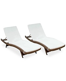Farron Cushion Adjustable Lounges (Set Of 2), Quick Ship