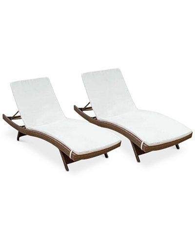 Farron Cushion Adjustable Lounges (Set Of 2), Quick Ship