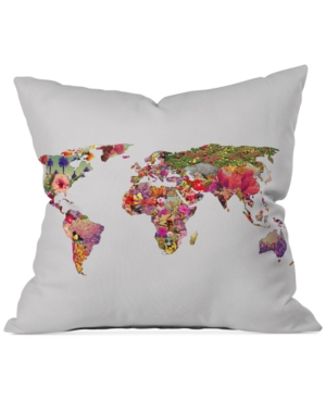 Deny Designs Bianca Green Its Your World 16 Square Decorative Pillow