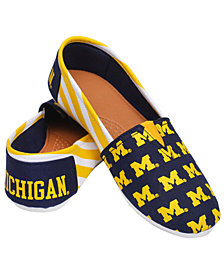 Forever Collectibles Michigan Wolverines Canvas Logo Shoe