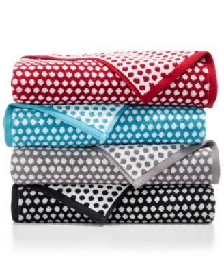 Elite Cotton Fashion Dot Washcloth, Created for Macy's