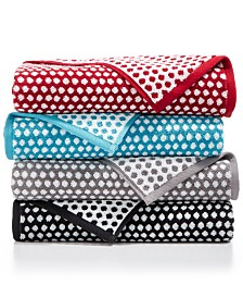 CLOSEOUT! Charter Club Elite Cotton Fashion Dot Bath Towel Collection, Created for Macy's