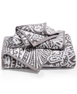Elite Cotton Fashion Paisley Hand Towel, Created for Macy's