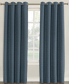 "Sun Zero Tullis Puckered 52"" x 84"" Blackout Lined Grommet Curtain Panel"