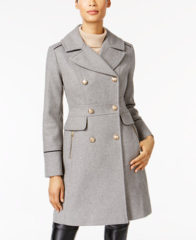 Vince Camuto Double-Breasted Peacoat - Coats - Women - Macy's