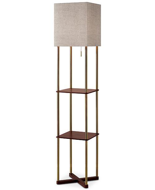 Adesso Harrison Shelf Floor Lamp With Usb Port Lighting Lamps