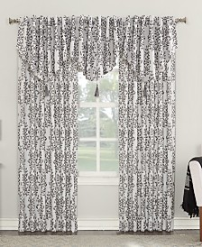 Sun Zero Rosalie Floral Blackout Lined Back-Tab Window Treatment Collection