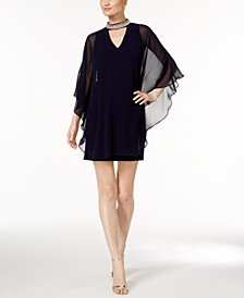 XSCAPE Capelet Sheath Dress