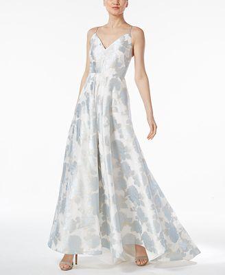 Calvin Klein Floral-Print A-Line Gown - Dresses - Women - Macy\'s