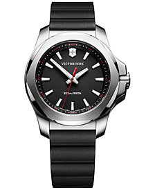 Victorinox Swiss Army Women's I.N.O.X. Black Rubber Strap Watch 37mm
