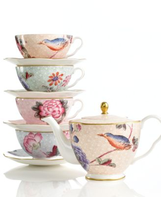 Peach Cuckoo Teacup and Saucer