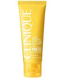 Clinique Broad Spectrum SPF 30 Sunscreen Oil-Free Face Cream, 1.7 oz.