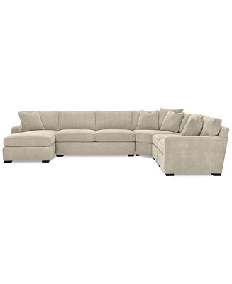 Radley 5 piece fabric chaise sectional sofa created for for Radley 5 piece sectional sofa