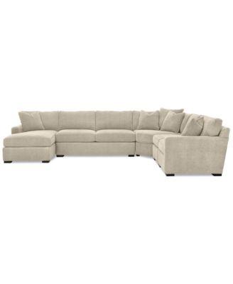 Radley 5 Piece Fabric Chaise Sectional Sofa, Created For Macyu0027s