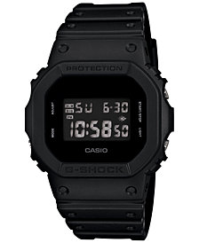 G-Shock Men's Digital Black Resin Strap Watch 43x43mm