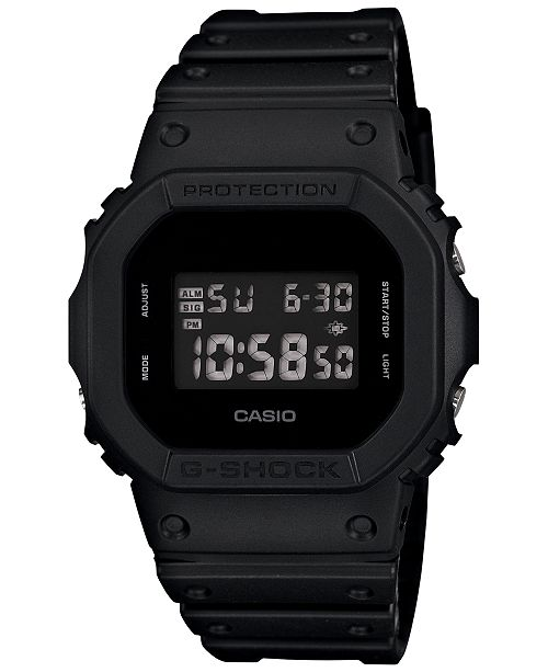 9935e4259 G-Shock Men's Digital Black Resin Strap Watch 43x43mm & Reviews ...