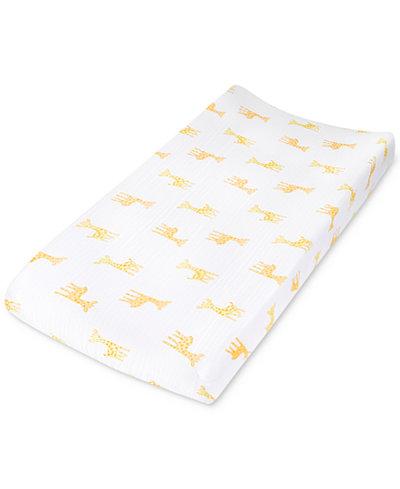 aden by aden + anais Giraffe-Print Cotton Changing Pad Cover, Baby Boys & Girls